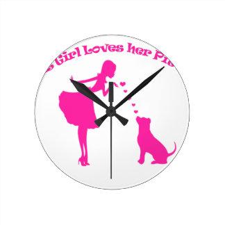 love pitty round clock