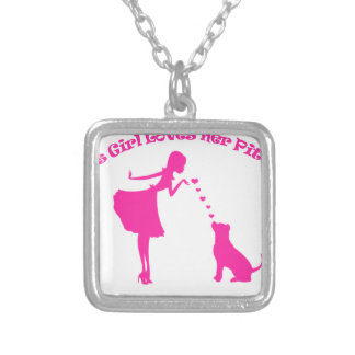 love pitty silver plated necklace