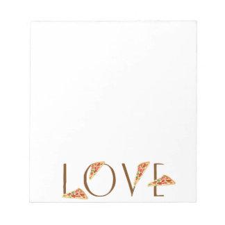 Love Pizza Fun Trendy Typography Notepad
