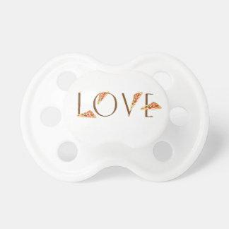 Love Pizza Fun Trendy Typography Pacifier