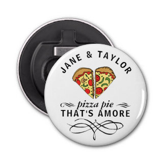 Love Pizza Personalized Bottle Opener