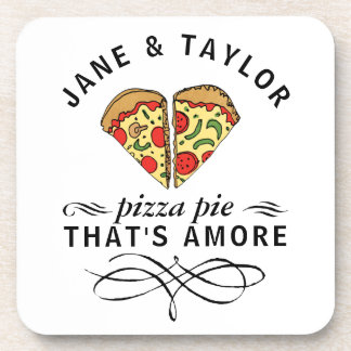 Love Pizza Personalized Coaster