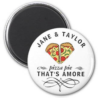Love Pizza Personalized Magnet