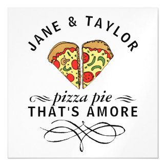 Love Pizza Personalized Magnetic Card