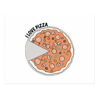 Love Pizza Postcard