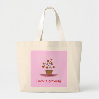 Love plant, love is growing Bag