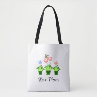"""""""Love Plants"""" """"Nature Lover"""" Tote Bag"""