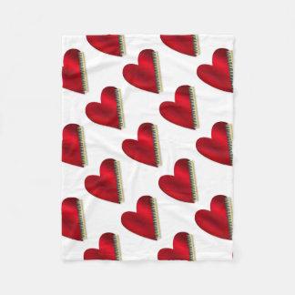 Love Playing Piano Fleece Blanket