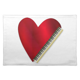 Love Playing Piano Placemat