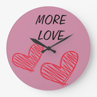 LOVE PLEASE LIVES WALL CLOCK
