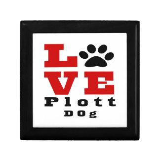 Love Plott Dog Designes Trinket Box