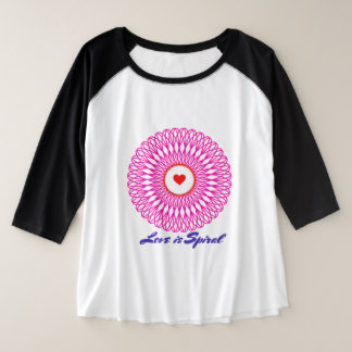 Love Plus Size Raglan T-Shirt