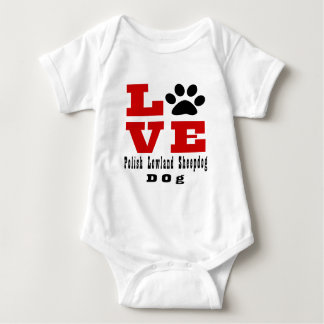 Love Polish Lowland Sheepdog Dog Designes Baby Bodysuit