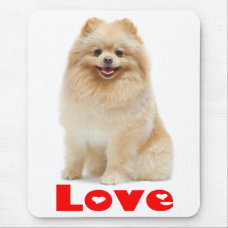 Love Pomeranian Pom Pom Puppy Dog Mousepad
