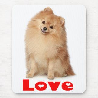 Love Pomeranian Pom Pom Puppy Dog Mousepad