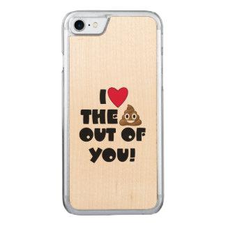 Love Poop Emoji Carved iPhone 8/7 Case
