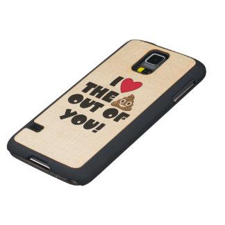 Love Poop Emoji Carved Maple Galaxy S5 Case
