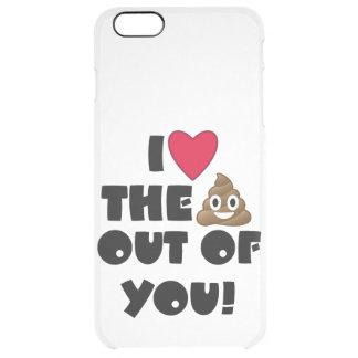 Love Poop Emoji Clear iPhone 6 Plus Case