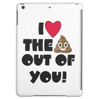 Love Poop Emoji iPad Air Cover