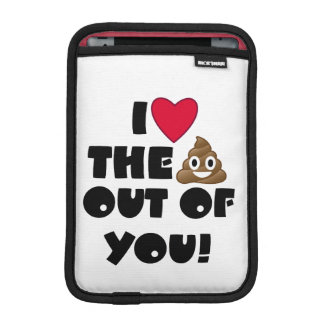 Love Poop Emoji iPad Mini Sleeve