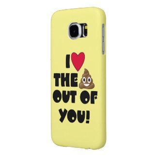 Love Poop Emoji Samsung Galaxy S6 Cases