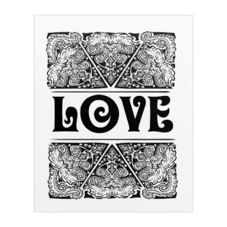 Love - Positive Statement Quote Acrylic Print