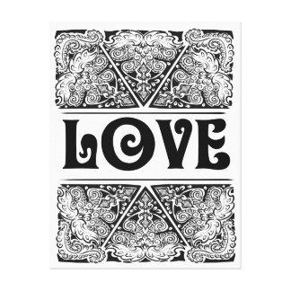 Love - Positive Statement Quote Canvas Print