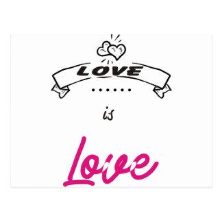 LOVE. POSTCARD