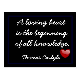 Love - Postcard -Thomas Carlyle quote-