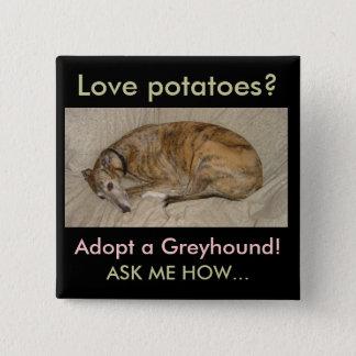 Love Potatoes? 2 Inch Square Button