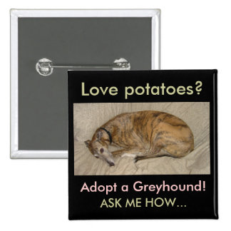 Love Potatoes? 2 Inch Square Button