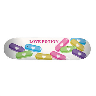 Love Potion For Snow Riders Skateboard Deck
