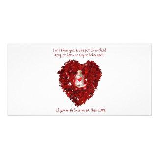 Love Potion Number 9 Custom Photo Card