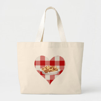 love poutine large tote bag