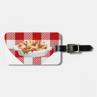 love poutine luggage tag
