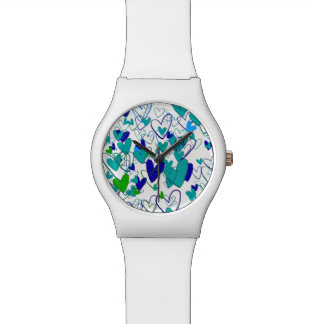 Love Powerful Stylish Heart Pattern Vibrant Chic Watch