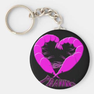 love prawns keychain