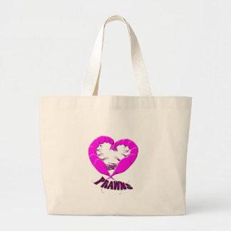 love prawns large tote bag