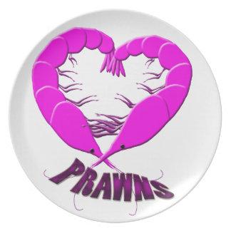 love prawns plate