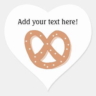 Love Pretzels - Personalize this Fun Graphic Heart Sticker