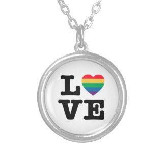 Love Pride Rainbow Heart Necklace