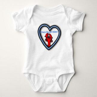 Love Prince Edward Island Lobster baby sleeper Baby Bodysuit