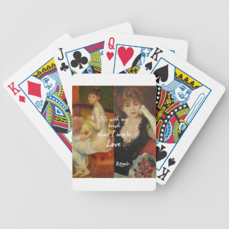 Love principal source in Renoir's masterpieces Bicycle Playing Cards