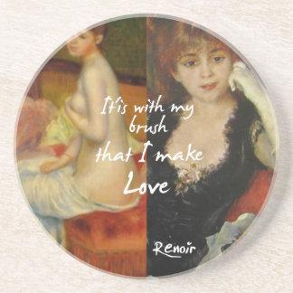 Love principal source in Renoir's masterpieces Coaster