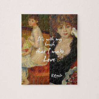 Love principal source in Renoir's masterpieces Jigsaw Puzzle