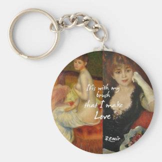 Love principal source in Renoir's masterpieces Keychain