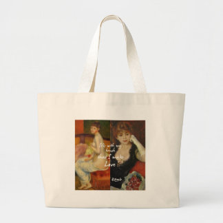 Love principal source in Renoir's masterpieces Large Tote Bag