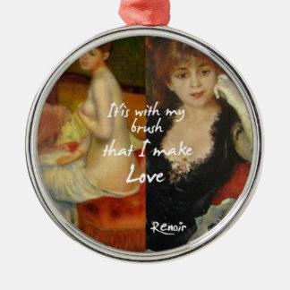 Love principal source in Renoir's masterpieces Metal Ornament