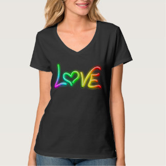 Love Psychedelic Neon Light T-Shirt