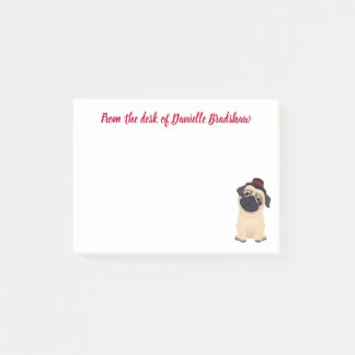 Love Pug Puppy Dog Post IT Personalized Post-it Notes
